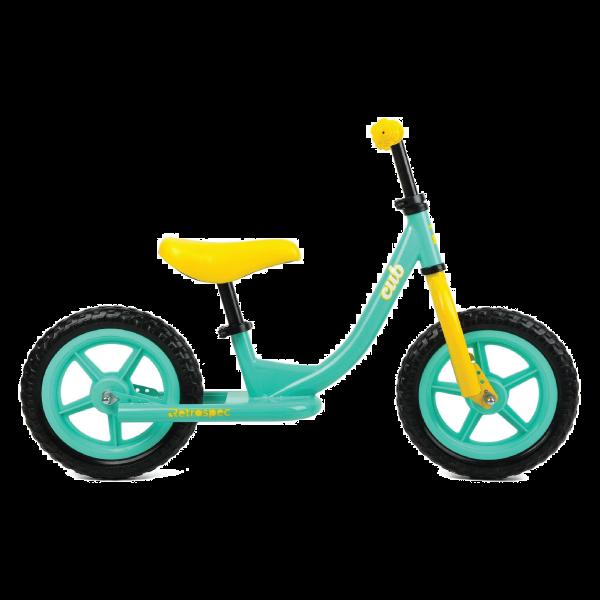 Retrospec Cub Balance Bike - Teal & Yellow