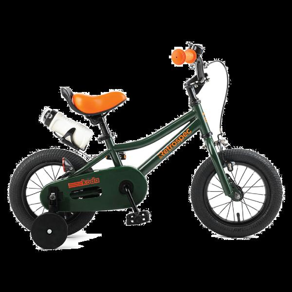 "Retrospec Koda 12"" Kids Bike with Training Wheels - Forest"