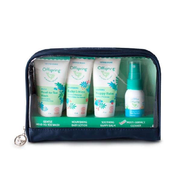Offspring Travel Essentials Set + Multi-Surface Cleaner