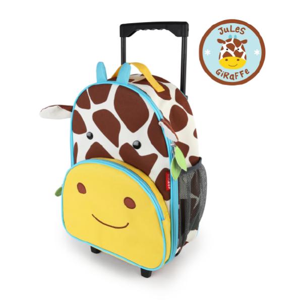 Skip Hop Zoo Kids Rolling Luggage - Giraffe