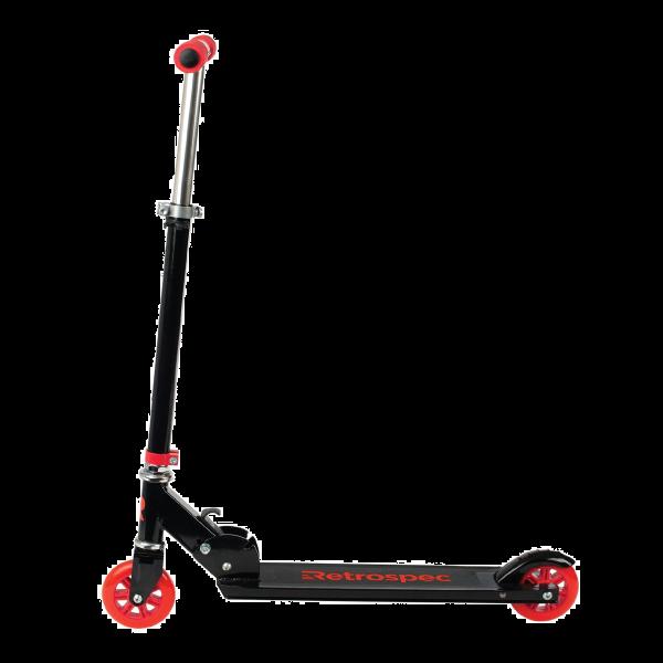 Retrospec Ripper-200 Kick Scooter - Black and Red